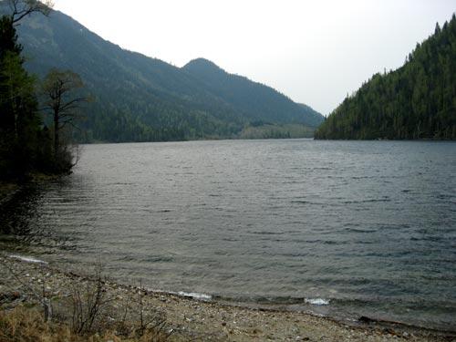 Соболиное озеро - вид на плотину