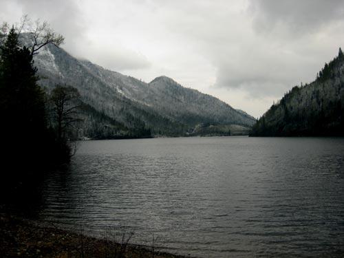 Соболиное озеро - испортилась погода