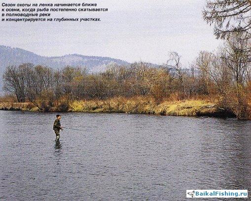 рыбалка на таежных реках ленок