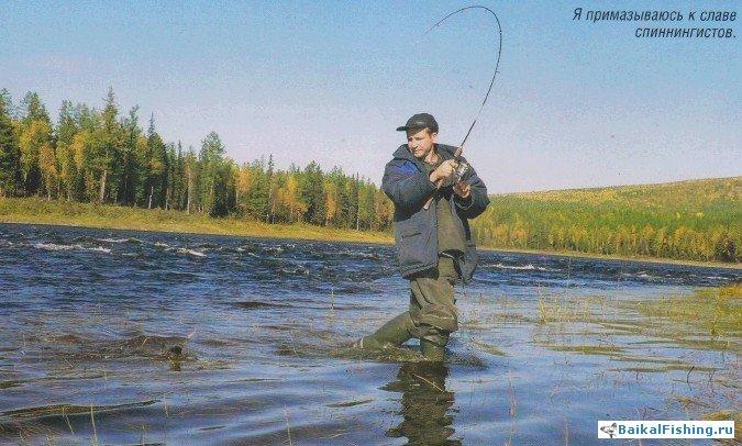 как ловить ленка на енисее