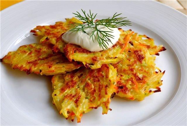 драники с картофелем и колбасой рецепт